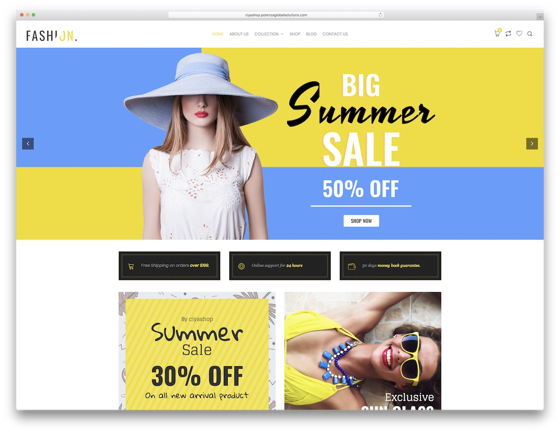 ciyashop fashion wordpress theme