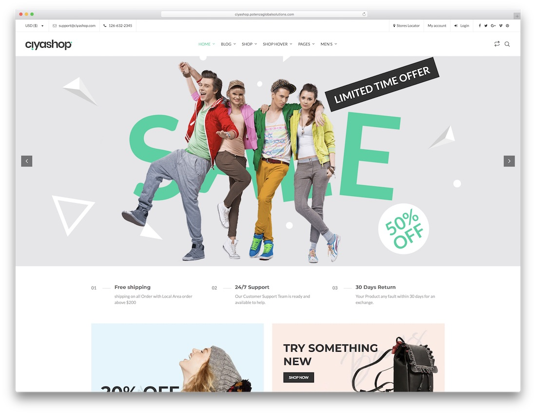 ciyashop woocommerce wordpress theme