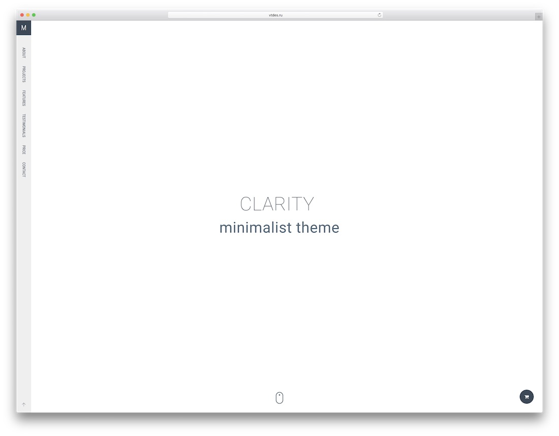 clarity graphic design website template