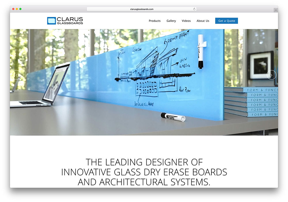 clarusglassboards-simple-bridge-theme-example