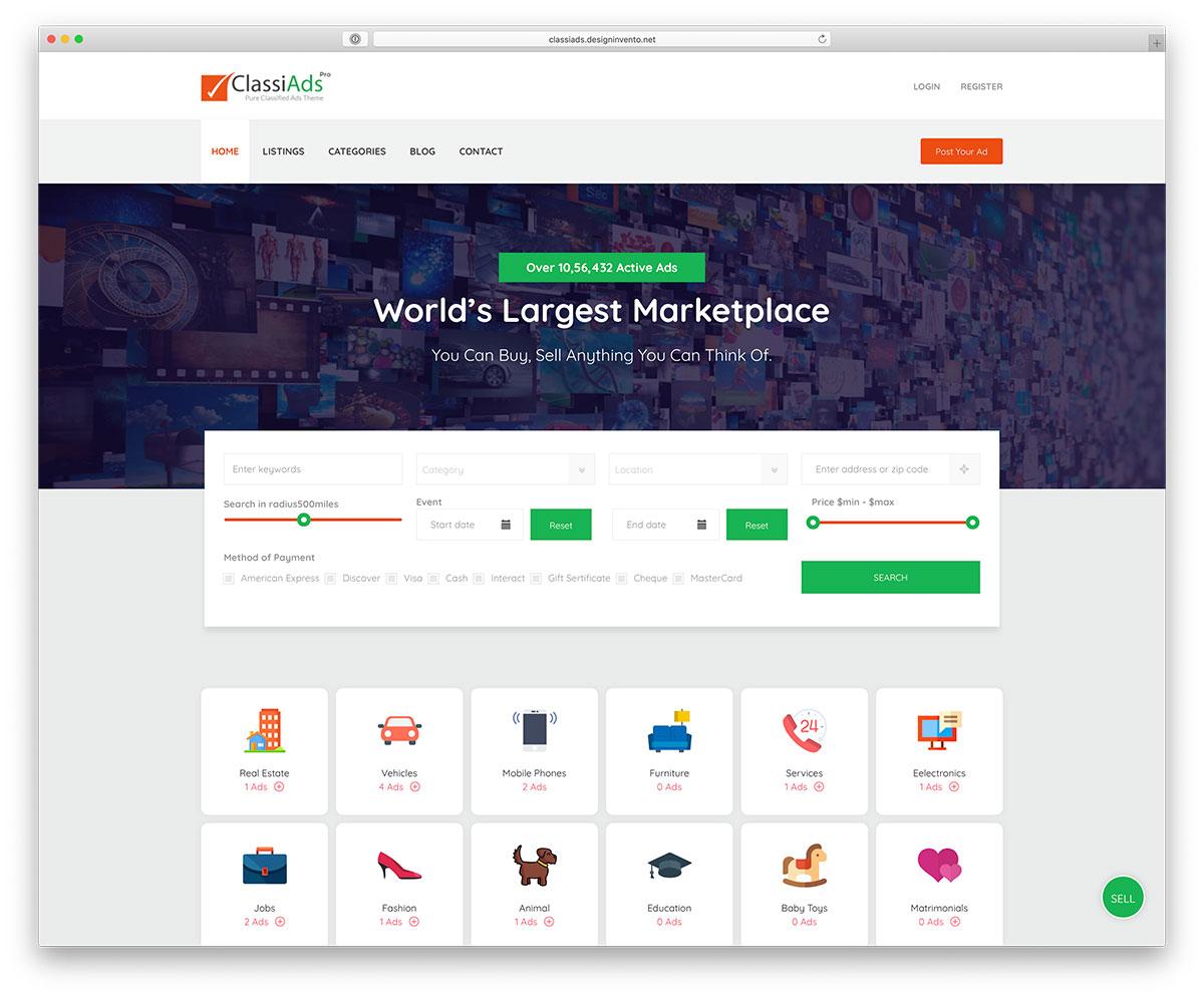 Best WordPress Classifieds Directory Themes 2019 - colorlib