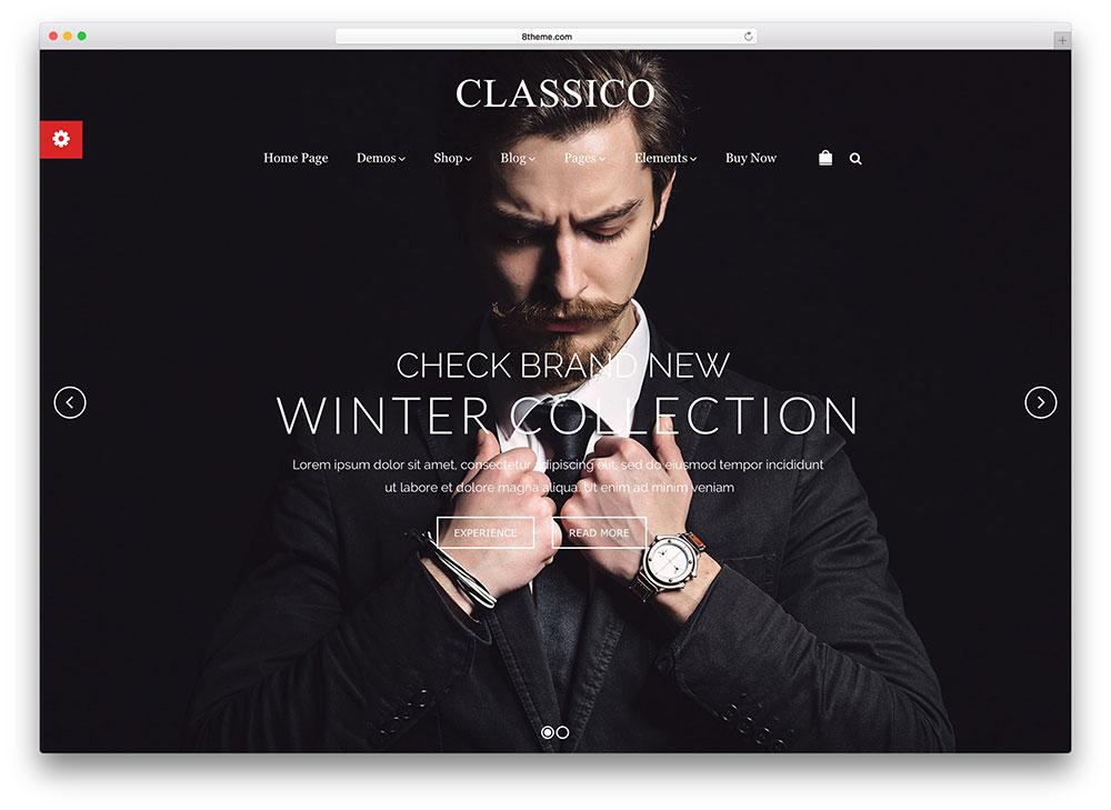 classico - fullscreen ecommerce theme