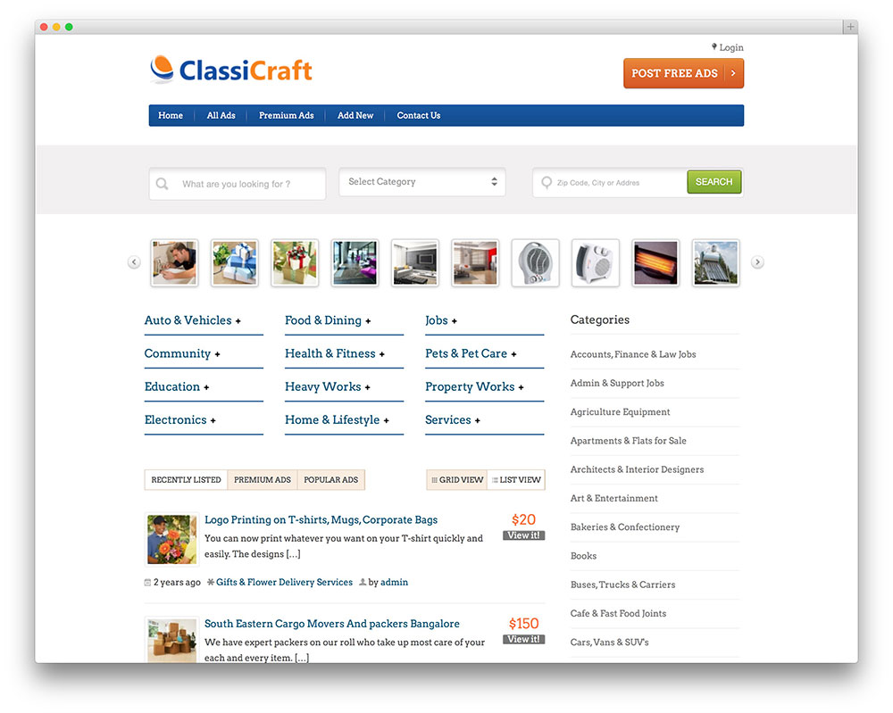 classicraft WordPress theme