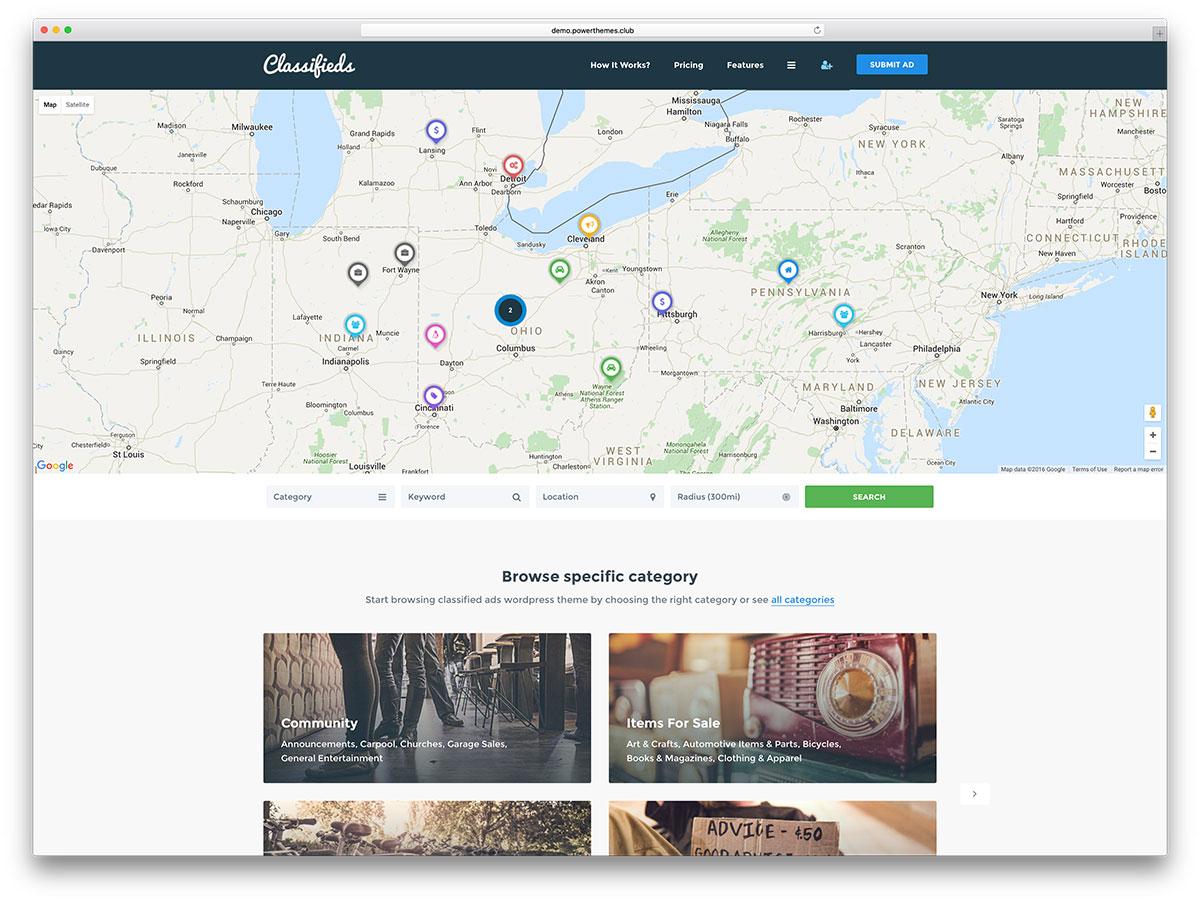 classifieds-creative-website-template