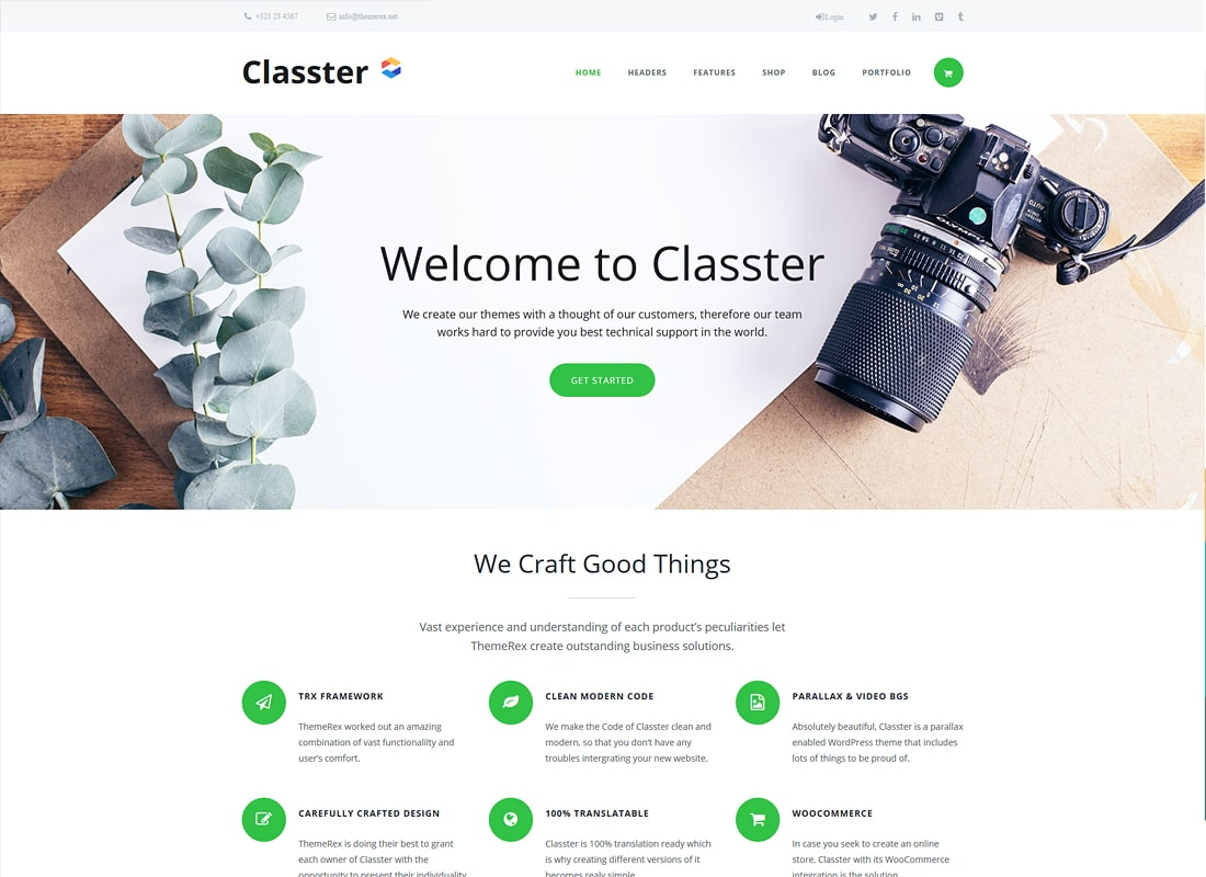 Classter | Landing Page Set With Page Builder