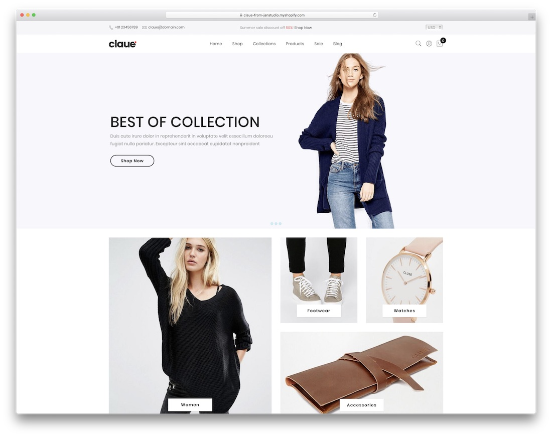 claue best shopify theme