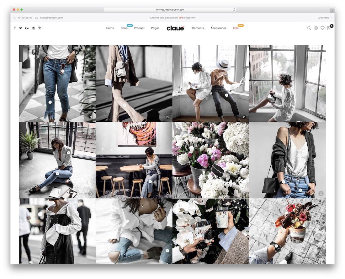 claue magento theme