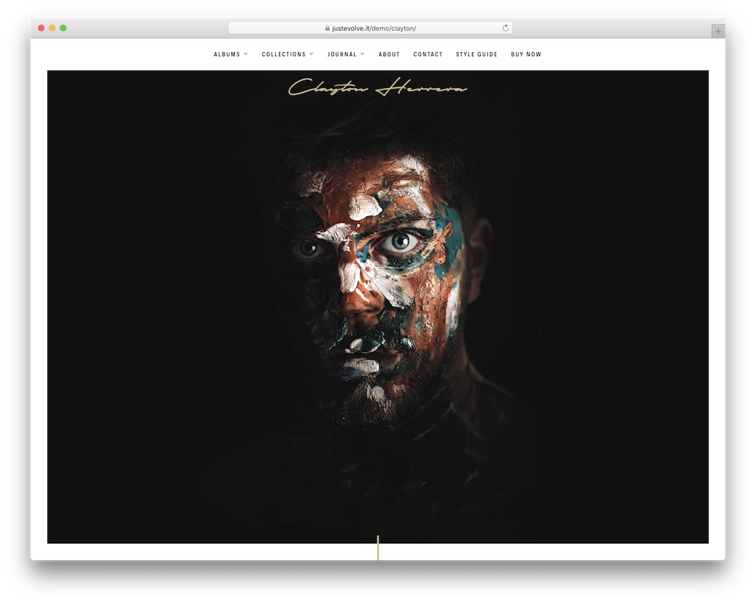 clayton wordpress gallery theme