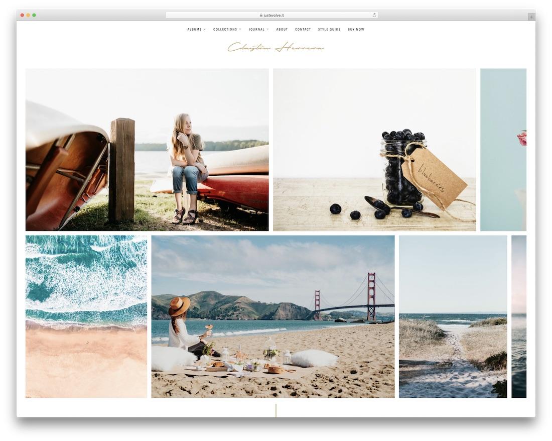 clayton wordpress theme for photographers