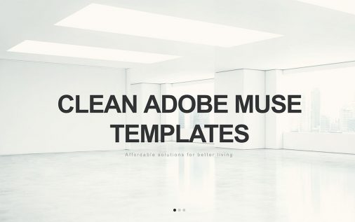 Clean Adobe Muse Templates