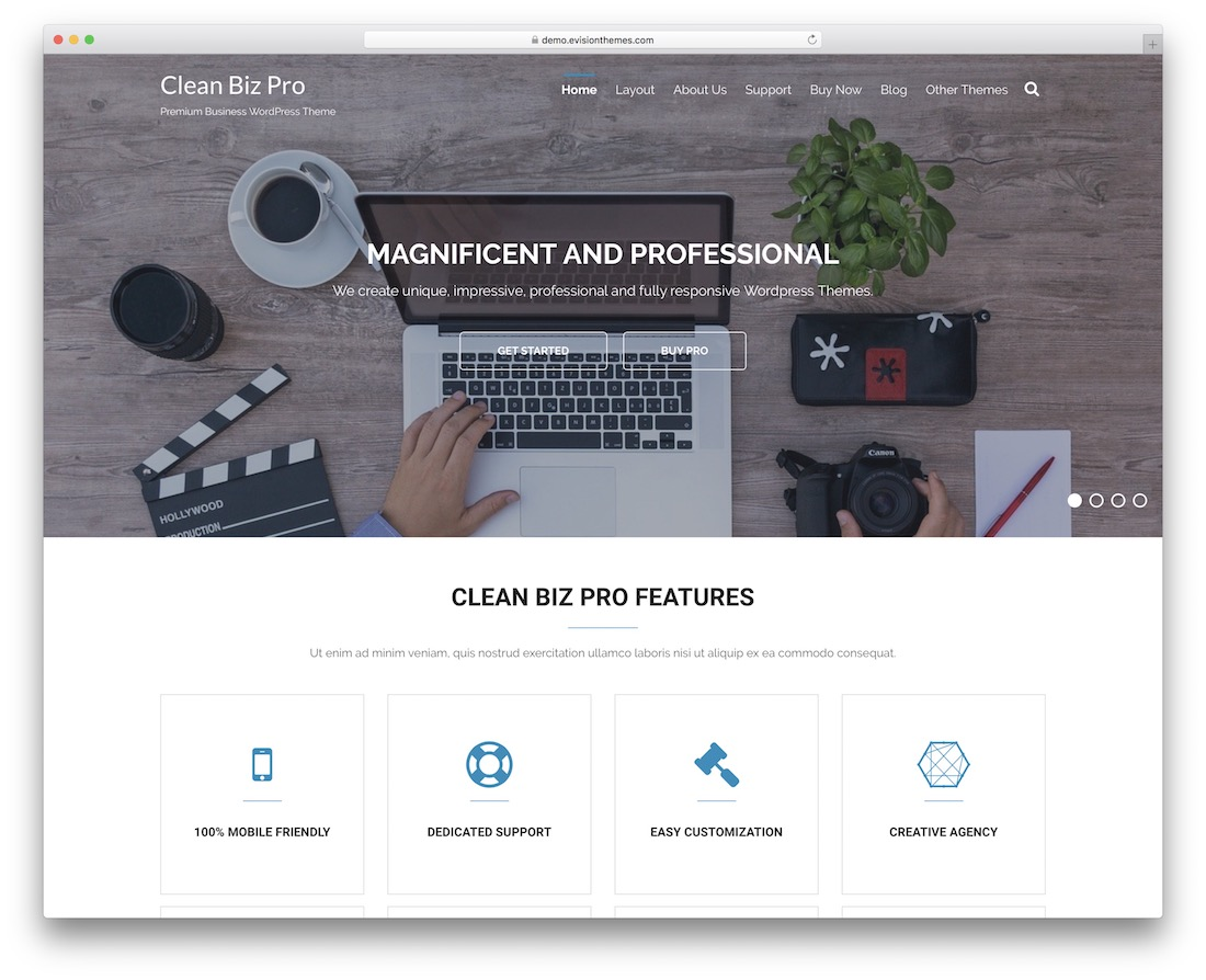 clean biz free clean wordpress theme