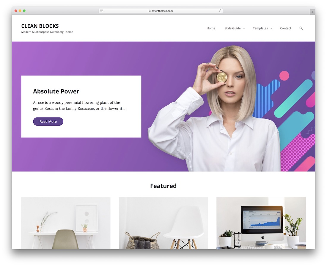 clean blocks free wordpress theme