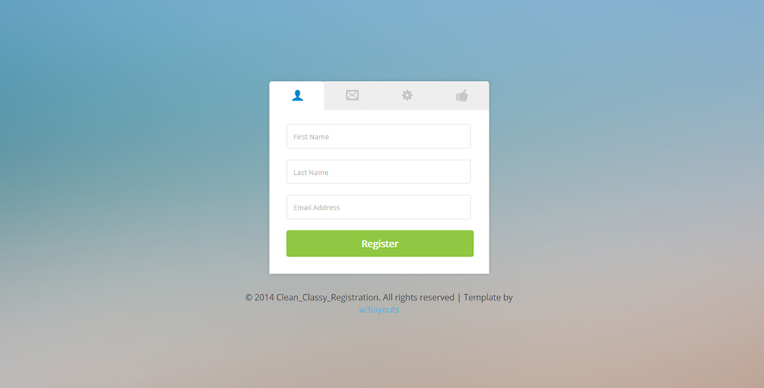Clean Classy Free Bootstrap Registration Forms