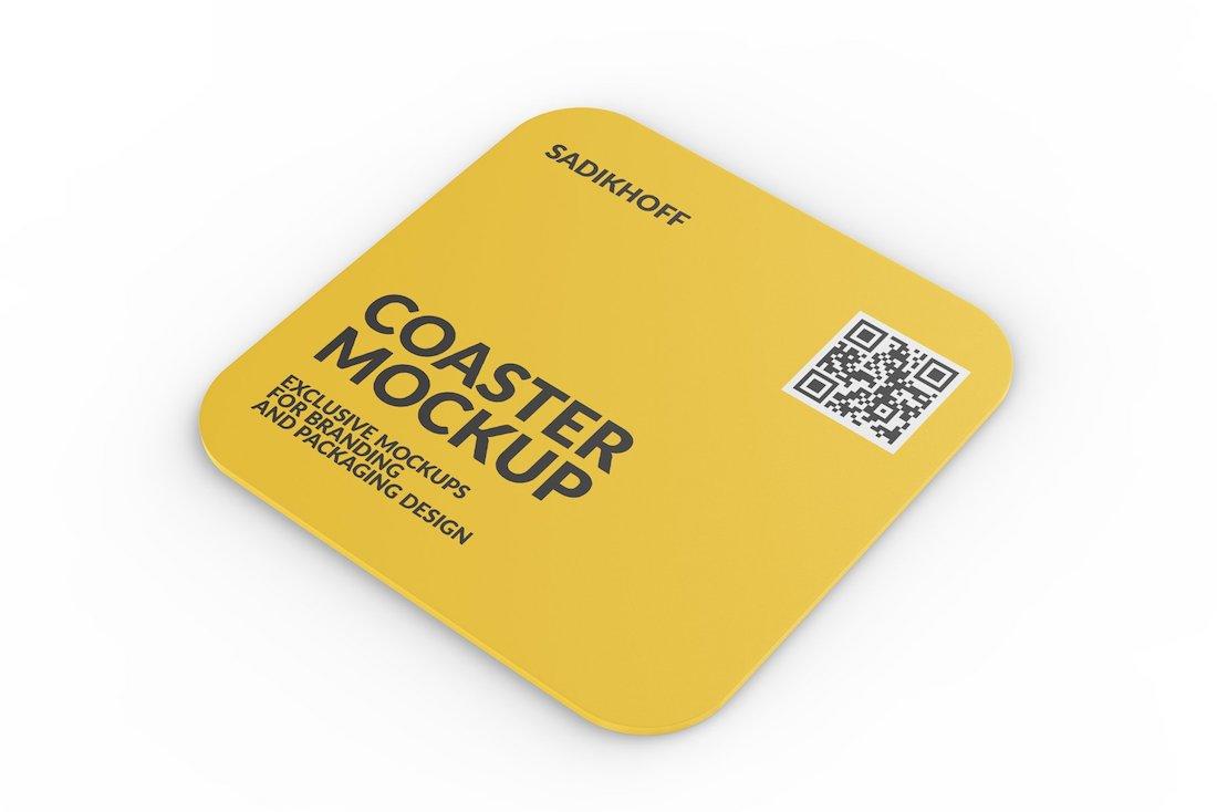 clean coaster mockup