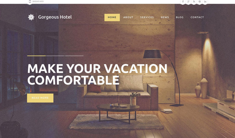 25 Best Hotel WordPress Themes With Incredible Design And Functionality 2017