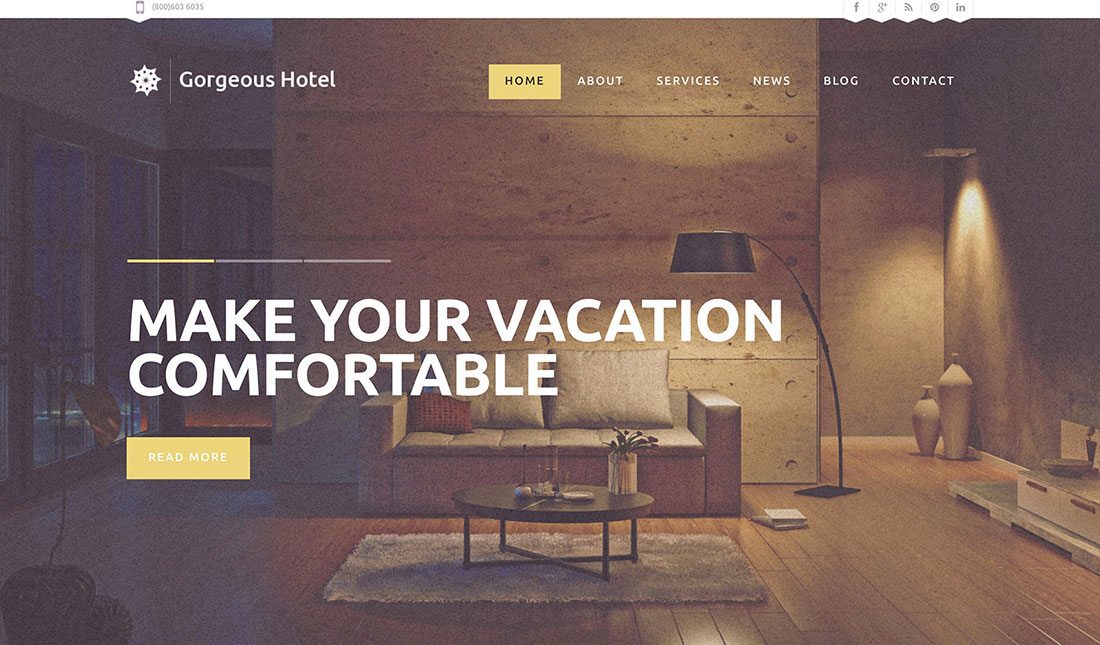 36 Best Hotel WordPress Themes With Incredible Design And Functionality 2018