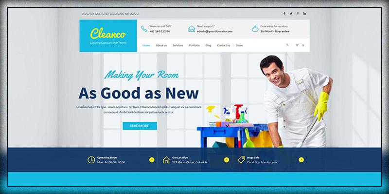 Cleanco - Cleaning Company WordPress Theme