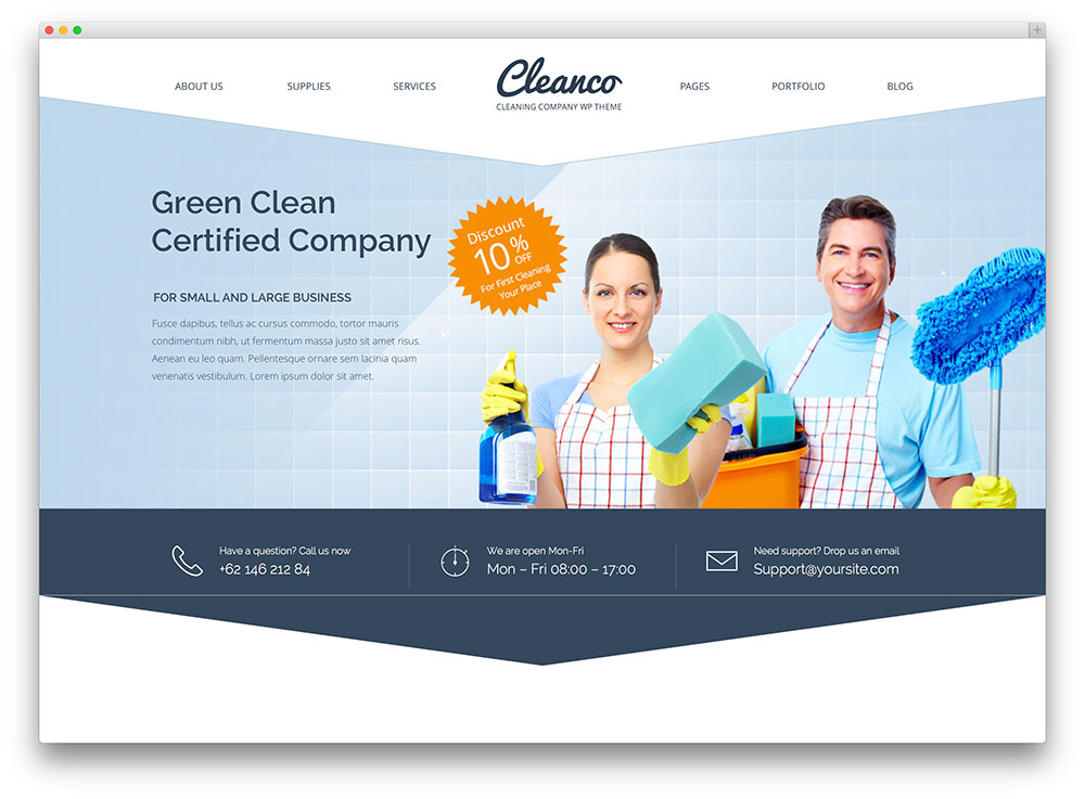 cleanco cleaning service theme