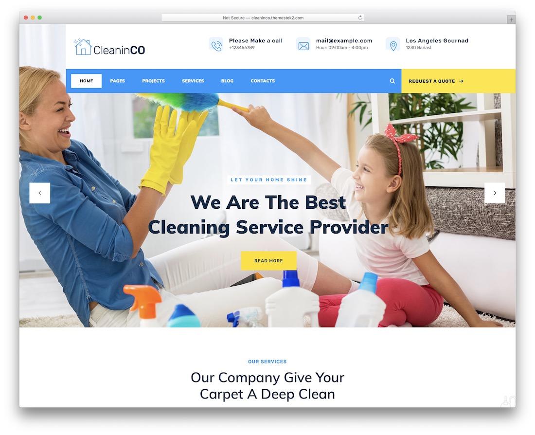 cleaninco wordpress theme