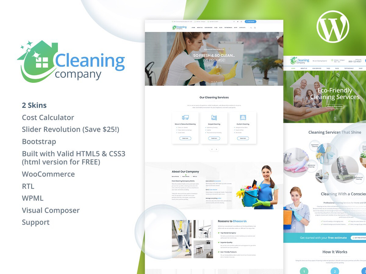 18 Best Cleaning Company WordPress Themes 2019 - Colorlib