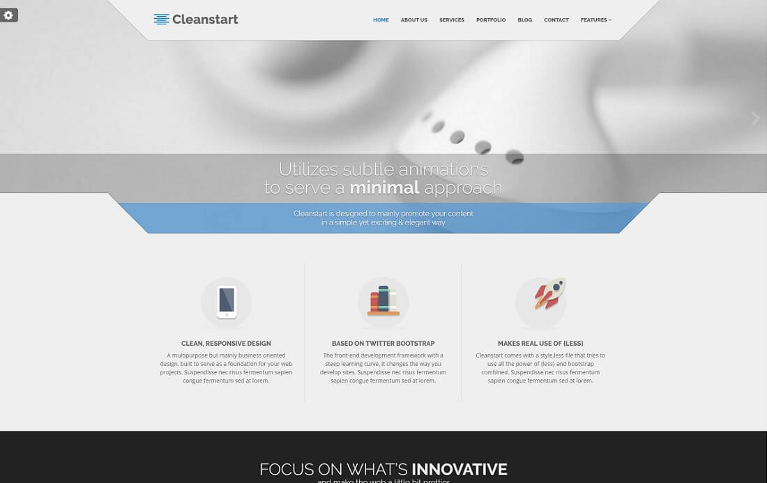 cleanstart bootstrap business website template