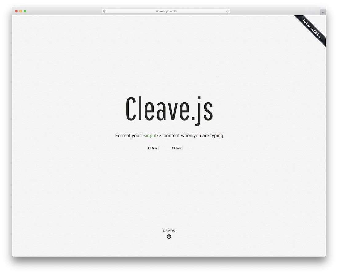 cleavejs javascript framework