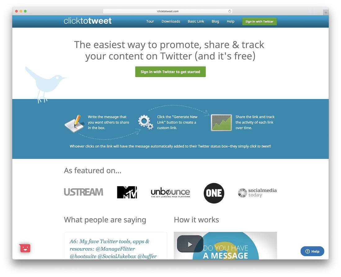 click to tweet social media tool