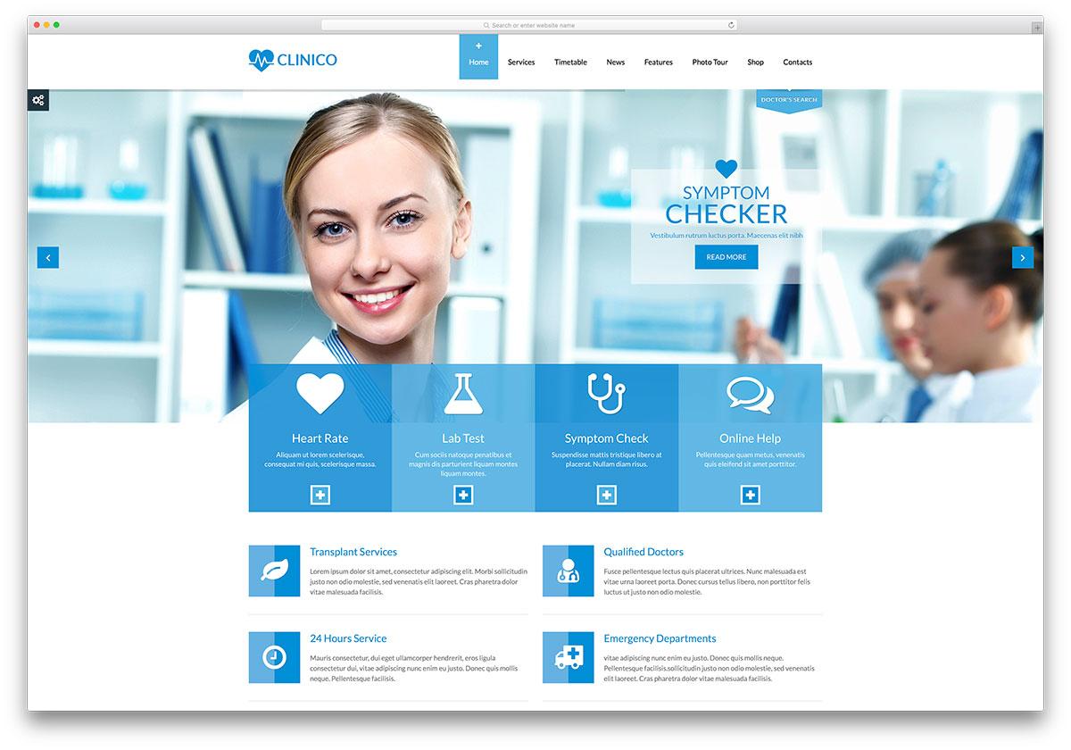 clinico-blu-light-doctor-website-template