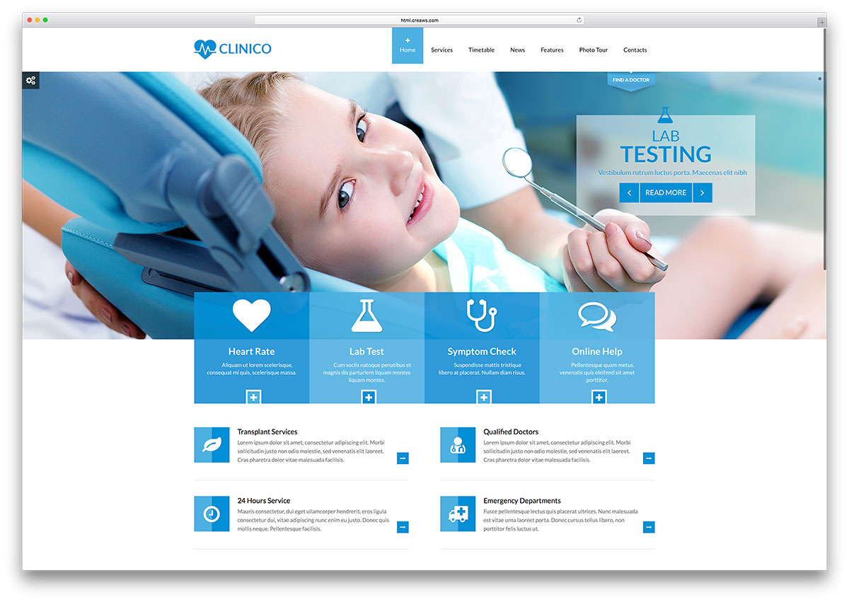 20 Best HTML5 Medical Website Templates 2017 - Colorlib