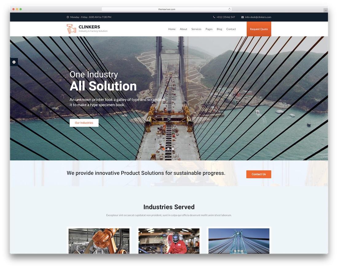 clinkers interactive website template