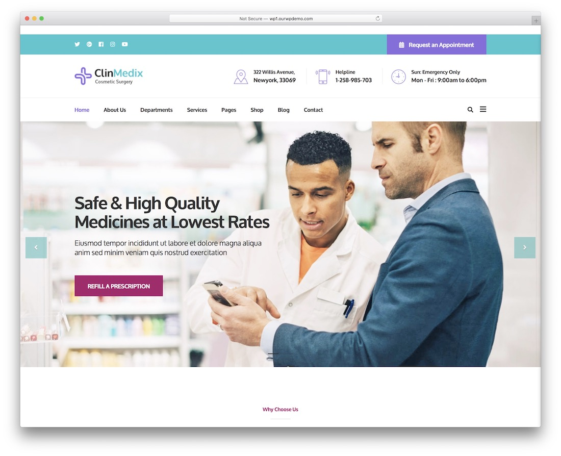 clinmedix medical website template