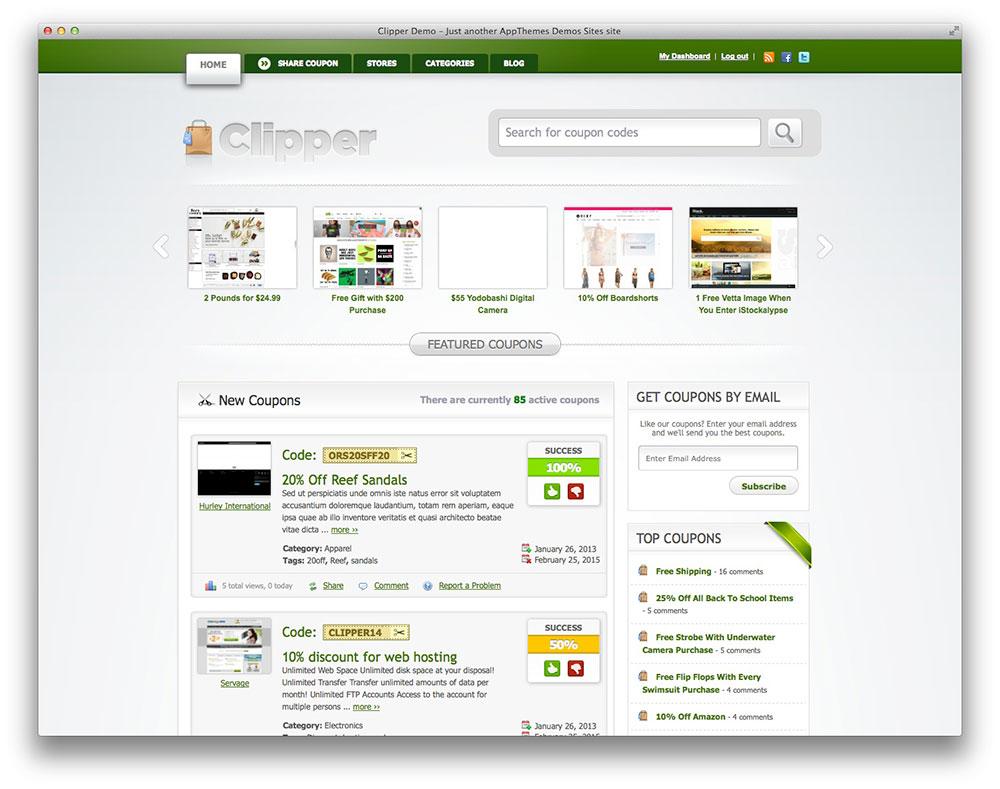 Clipper WordPress theme