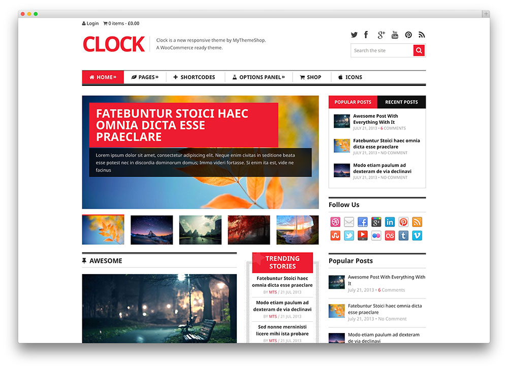 clock clean tech magazine template