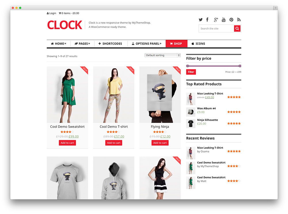Clock store & magazine theme