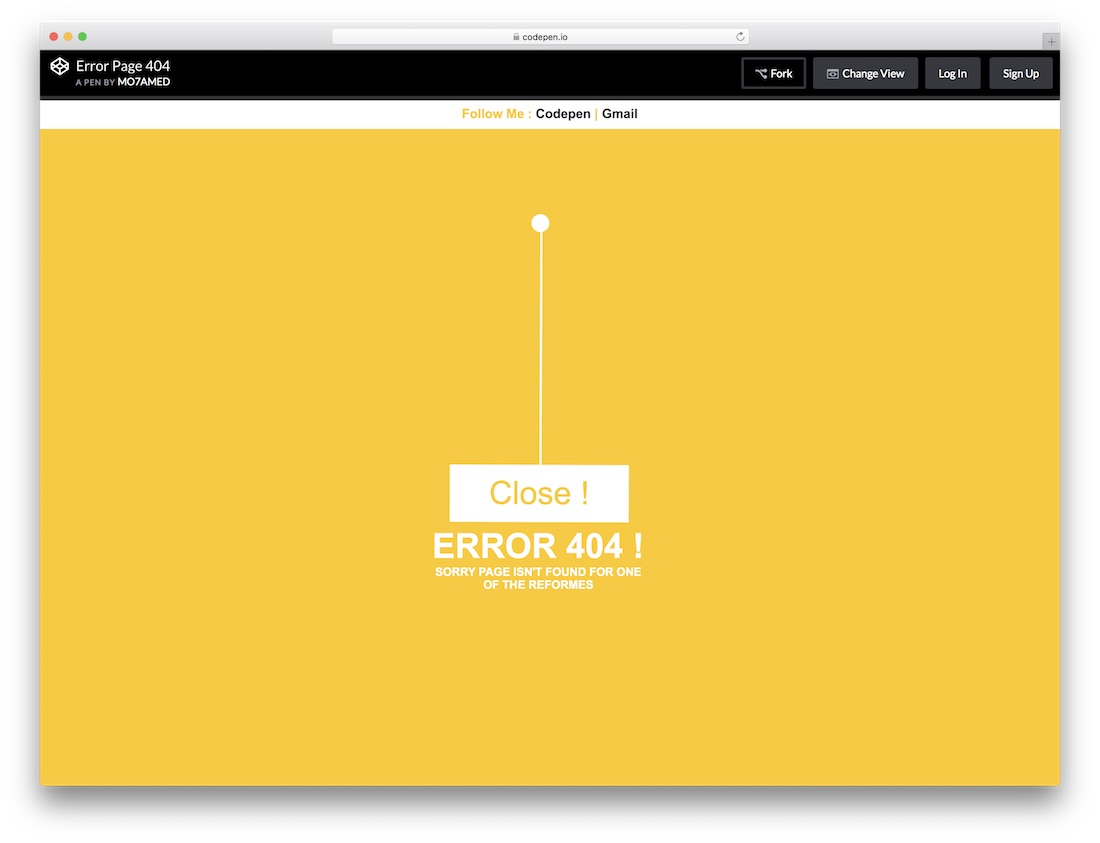 closed free error page template