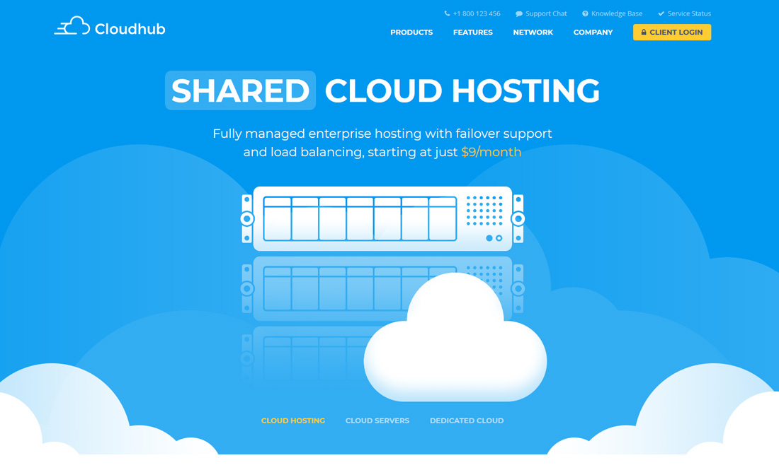 cloudhub-interactive-website-templates