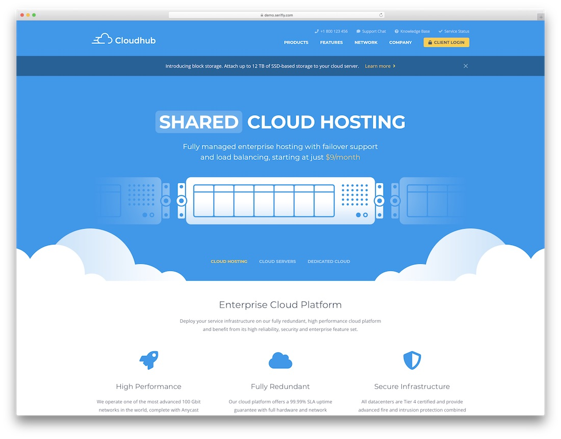 cloudhub mobile friendly website template