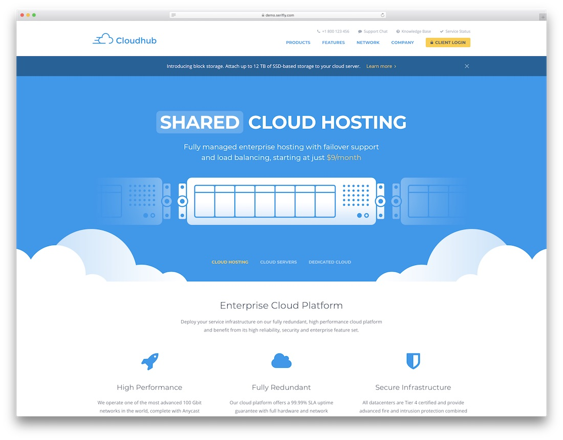 cloudhub technology website template