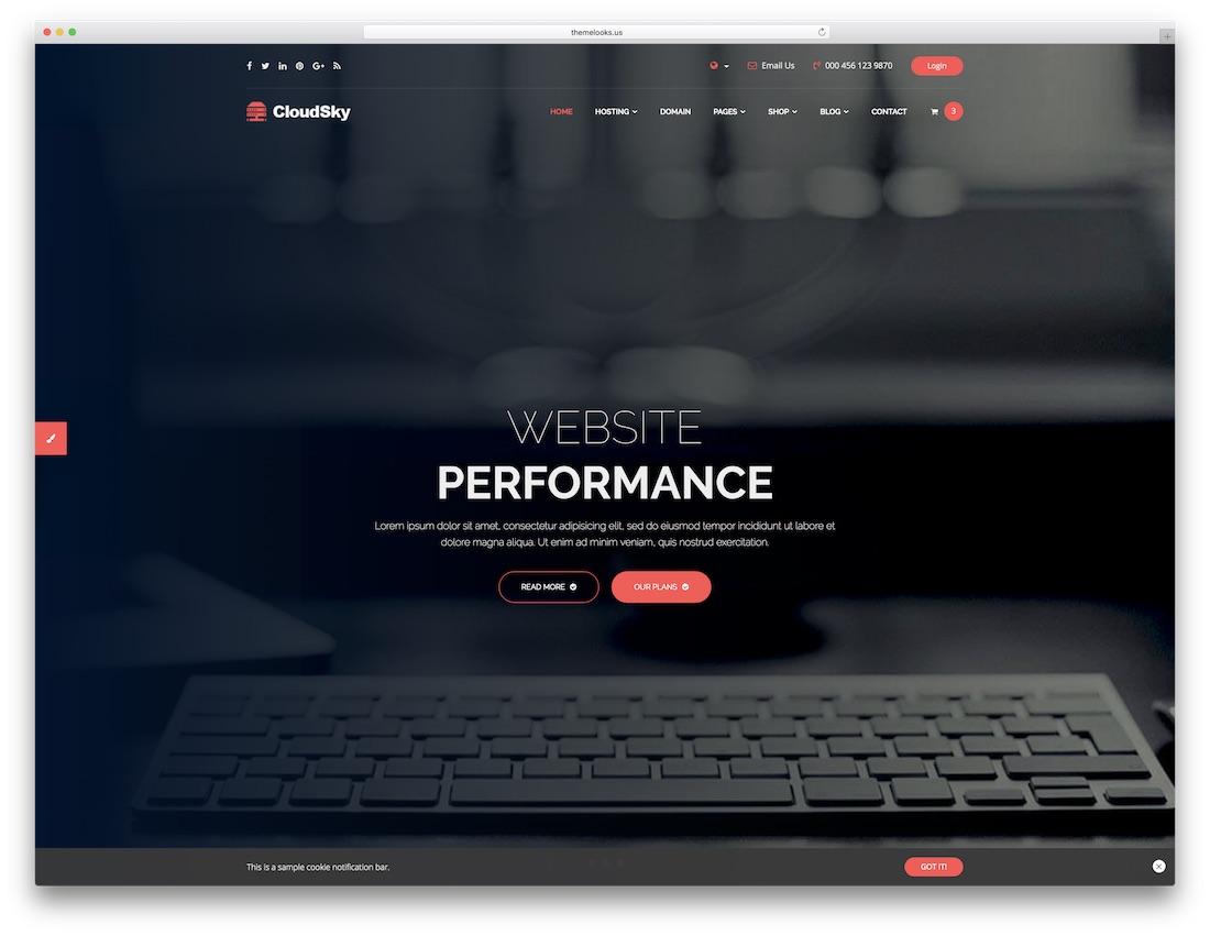 cloudsky multipurpose website template
