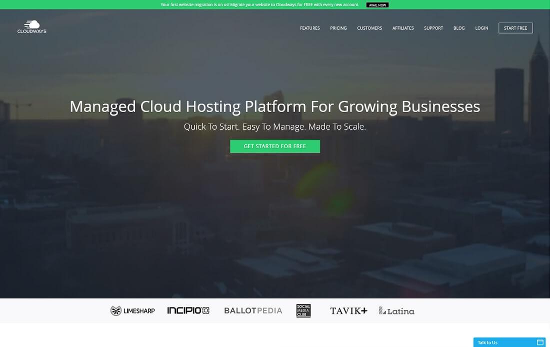 cloudways web hosting personal website