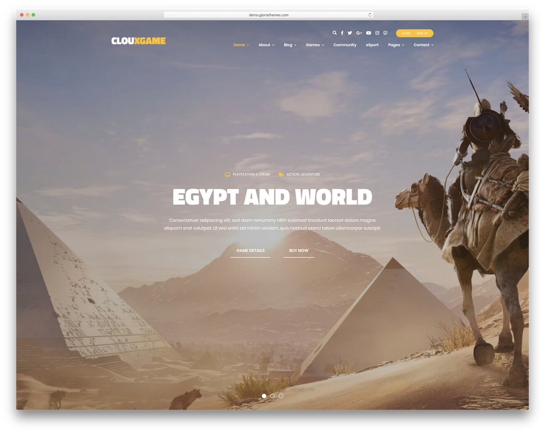 cloux gaming html website template