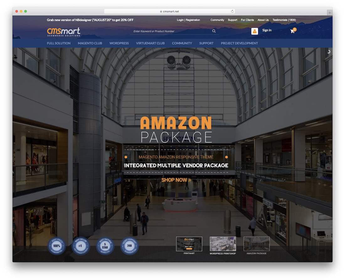 cmsmart ecommerce platform for selling digital product