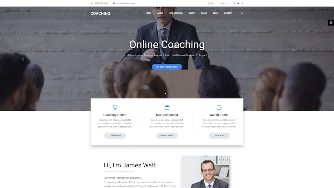 coaching website template