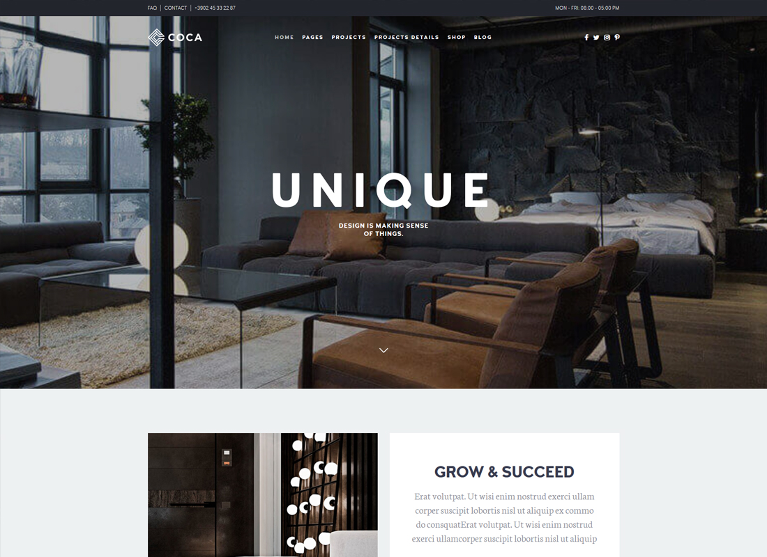 Architecture Coca | Interior Design and Architecture WordPress Theme