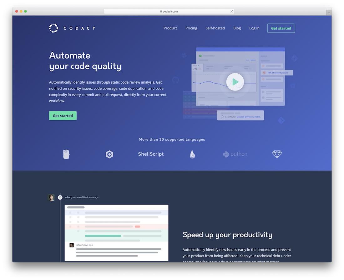 codacy code quality testing tool