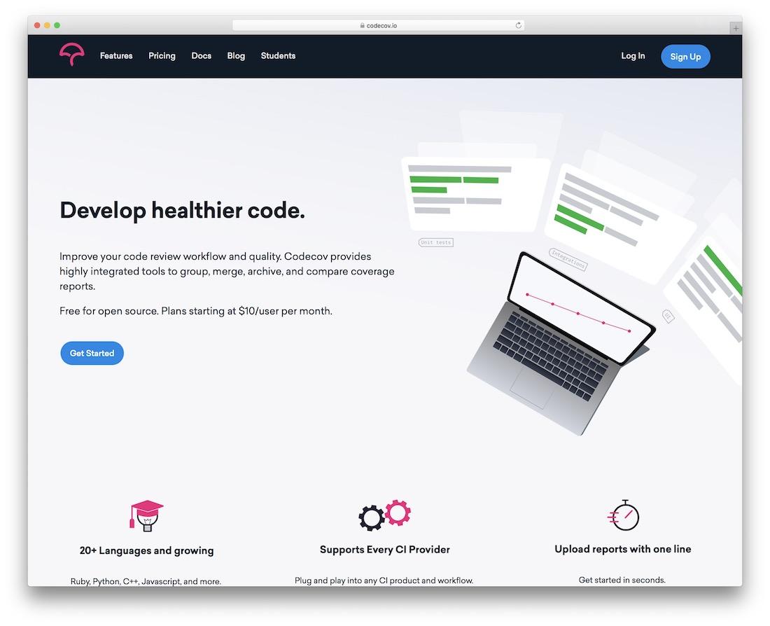codecov code quality testing tool