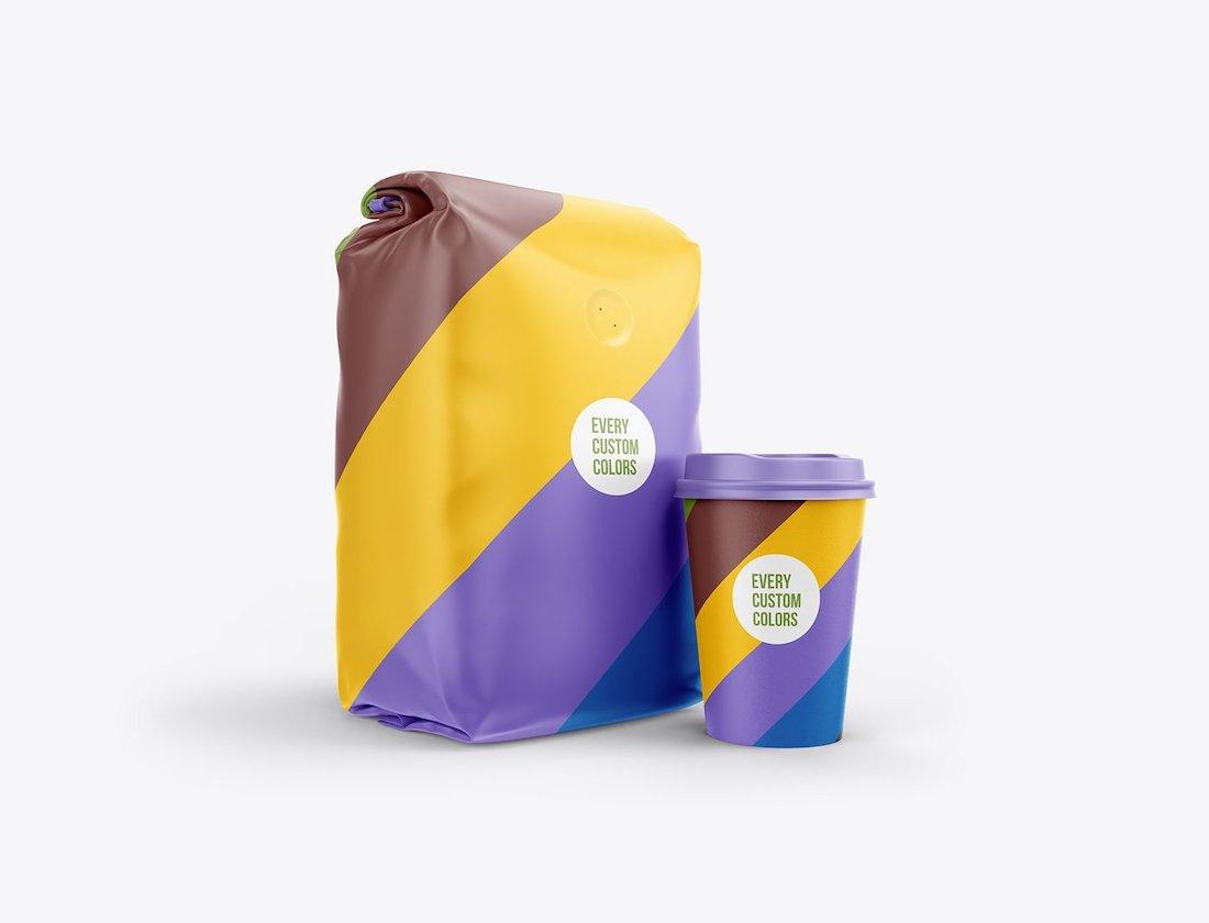 21 Best Coffee Bag Mockup Templates 2019