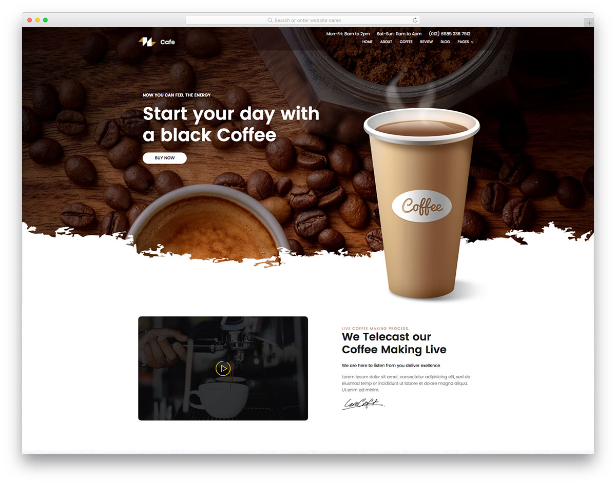 coffee - free coffee shop website template