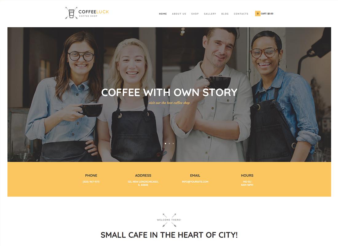 Coffee Luck - Coffee Shop / Cafe / Restaurant WordPress Theme
