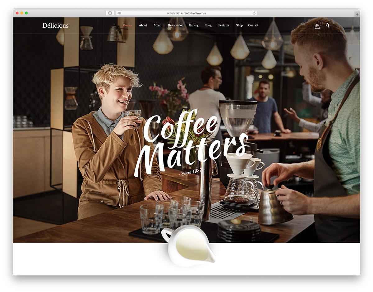 modern coffee WordPress theme